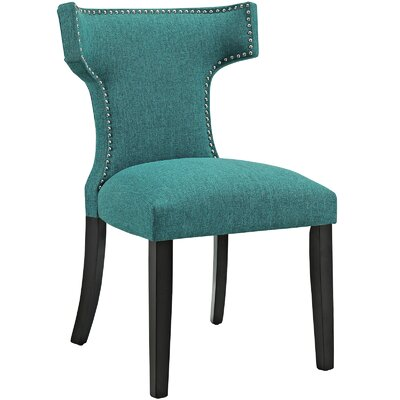 Curve Upholstered Dining Chair Color: Fabric Teal
