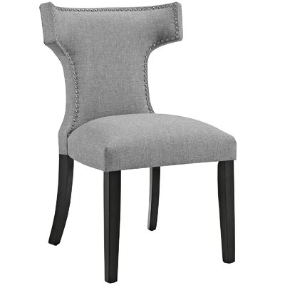 Curve Upholstered Dining Chair Color: Fabric Light Gray