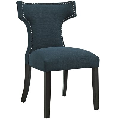 Curve Upholstered Dining Chair Color: Fabric Azure
