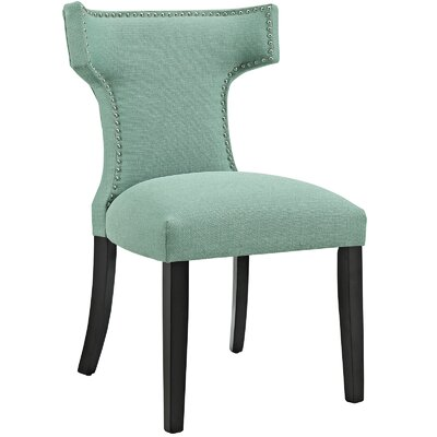 Curve Upholstered Dining Chair Color: Fabric Laguna