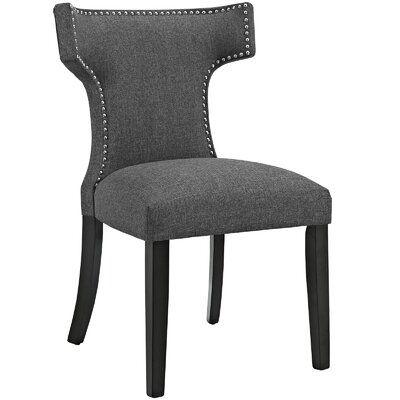 Curve Upholstered Dining Chair Color: Fabric Gray