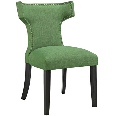 Curve Upholstered Dining Chair Color: Fabric Kelly Green