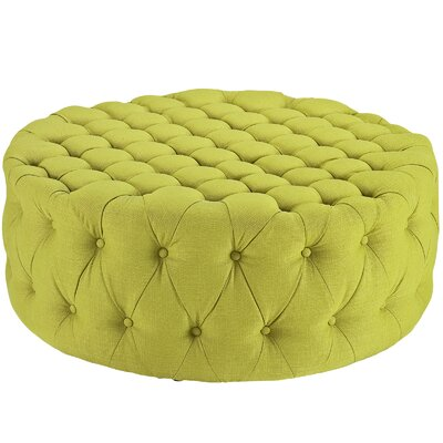 Amour Ottoman Upholstery: Polyester - Wheatgrass