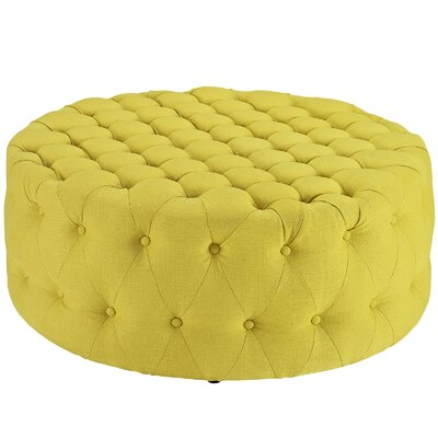 Amour Ottoman Upholstery: Polyester - Sunny