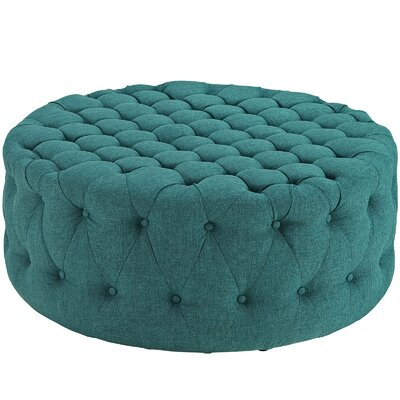 Amour Ottoman Upholstery: Polyester - Teal