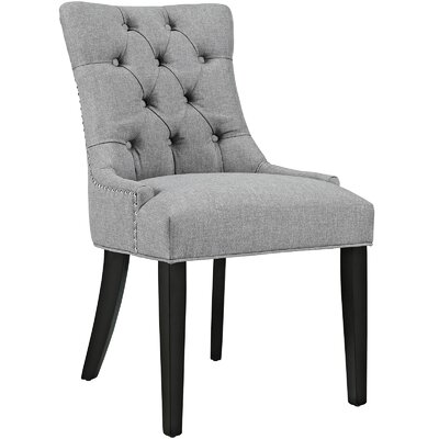 Regent Upholstered Dining Chair Color: Light Gray