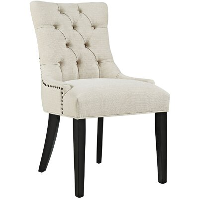 Regent Upholstered Dining Chair Color: Beige