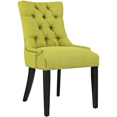 Regent Upholstered Dining Chair Color: Wheatgrass