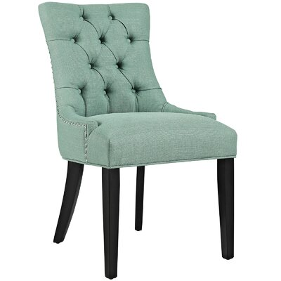 Regent Upholstered Dining Chair Color: Laguna