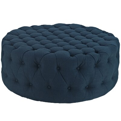 Amour Ottoman Upholstery: Polyester - Azure