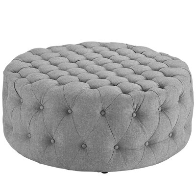 Amour Ottoman Upholstery: Polyester - Light Gray