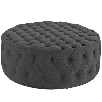 Amour Ottoman Upholstery: Polyester - Gray