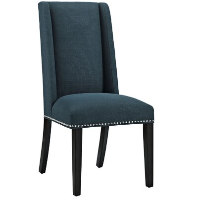 Florinda Wood Leg Upholstered Dining Chair Color: Azure