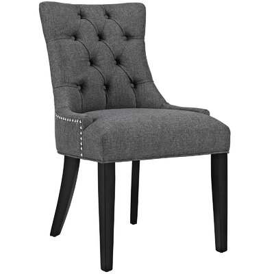 Regent Upholstered Dining Chair Color: Gray