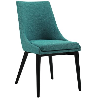 Viscount Upholstered Dining Chair Color: Fabric Teal