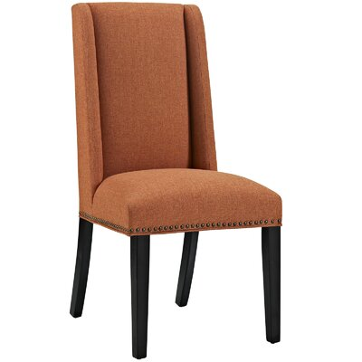 Florinda Wood Leg Upholstered Dining Chair Color: Orange