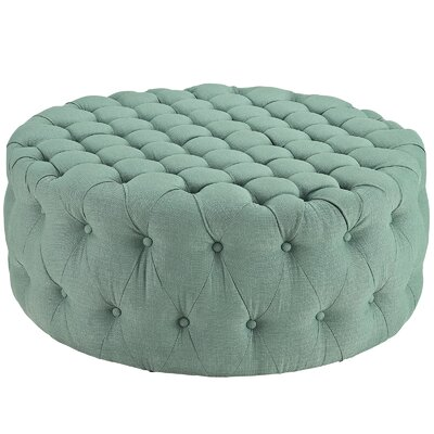 Amour Ottoman Upholstery: Polyester - Laguna