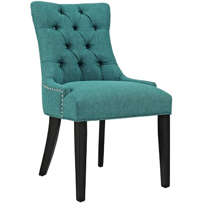Regent Upholstered Dining Chair Color: Teal