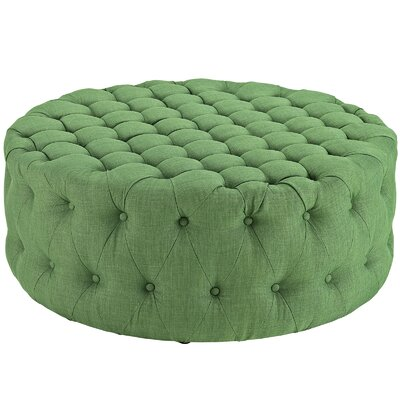 Amour Ottoman Upholstery: Polyester - Green