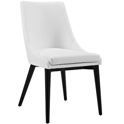 Carlton Upholstered Dining Chair Color: White