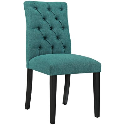 Duchess Upholstered Dining Chair Color: Teal