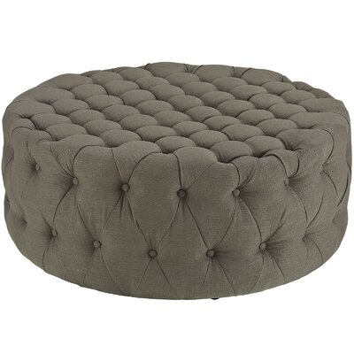 Amour Ottoman Upholstery: Polyester - Granite