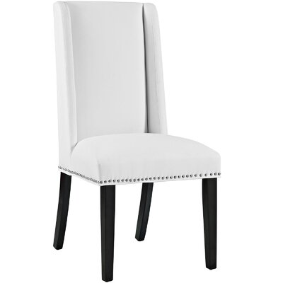 Florinda Upholstered Dining Chair Color: White