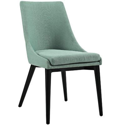 Viscount Upholstered Dining Chair Color: Fabric Laguna