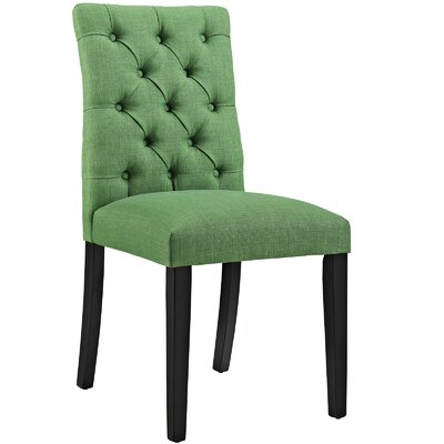 Duchess Upholstered Dining Chair Color: Kelly Green