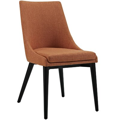 Viscount Upholstered Dining Chair Color: Fabric Orange