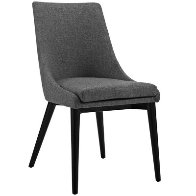 Viscount Upholstered Dining Chair Color: Fabric Gray