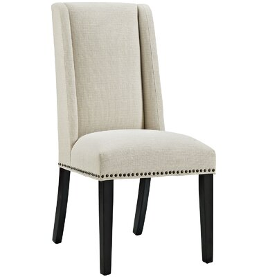 Florinda Wood Leg Upholstered Dining Chair Color: Beige