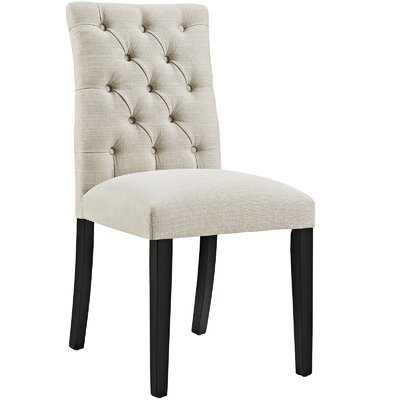 Duchess Upholstered Dining Chair Color: Beige
