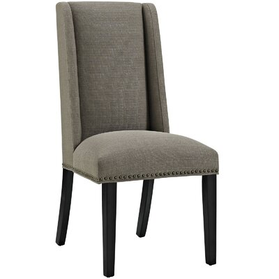 Florinda Wood Leg Upholstered Dining Chair Color: Granite