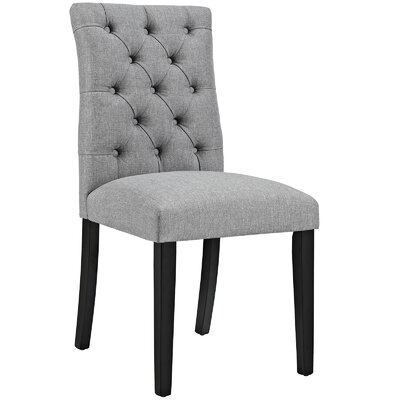 Duchess Upholstered Dining Chair Color: Light Gray