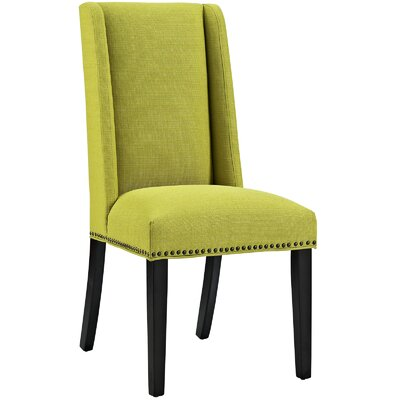 Florinda Wood Leg Upholstered Dining Chair Color: Wheatgrass
