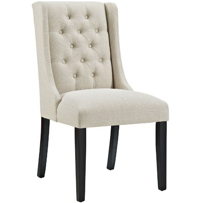Baronet Upholstered Dining Chair Color: Beige