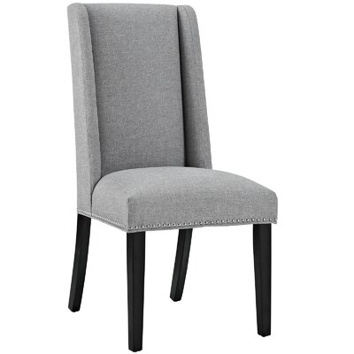 Florinda Wood Leg Upholstered Dining Chair Color: Light Gray
