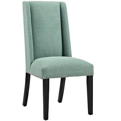 Florinda Wood Leg Upholstered Dining Chair Color: Laguna