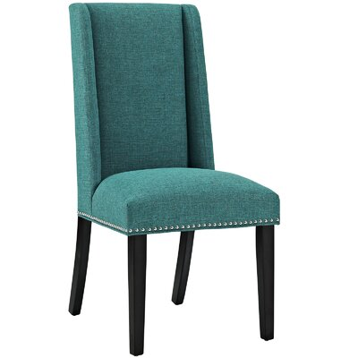 Baron Upholstered Dining Chair Color: Teal