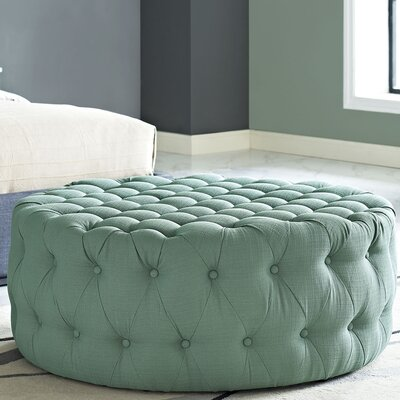 Amour Cocktail Ottoman Upholstery: Polyester - Laguna