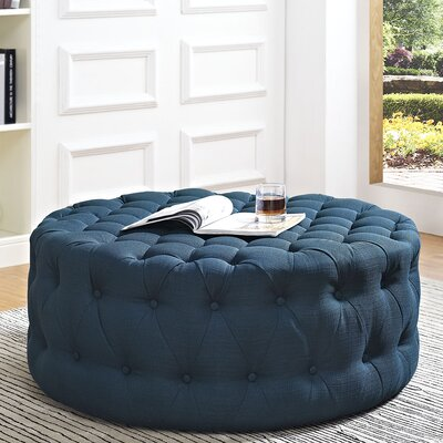Amour Cocktail Ottoman Upholstery: Polyester - Azure