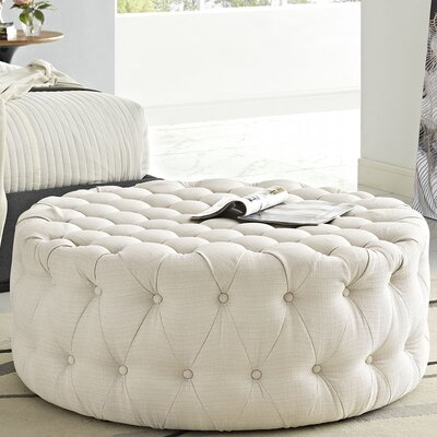 Amour Cocktail Ottoman Upholstery: Polyester - Beige