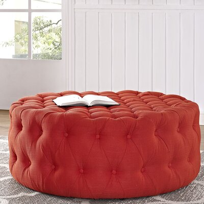 Amour Cocktail Ottoman Upholstery: Polyester - Atomic Red