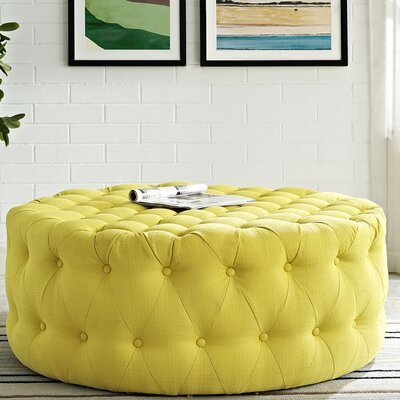 Amour Cocktail Ottoman Upholstery: Polyester - Sunny