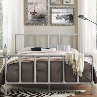 Dower Queen Platform Bed Color: Gray
