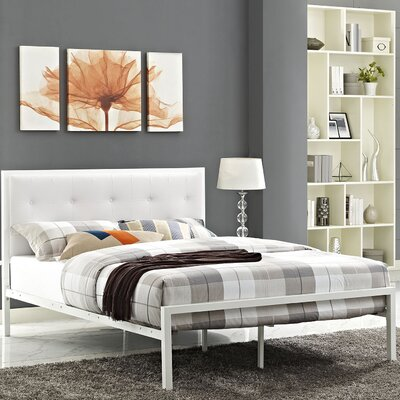 Lottie Upholstered Vinyl Platform Bed Size: King