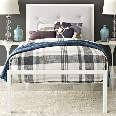 Lottie Upholstered Vinyl Platform Bed Size: Twin