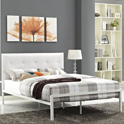 Lottie Upholstered Vinyl Platform Bed Size: Queen
