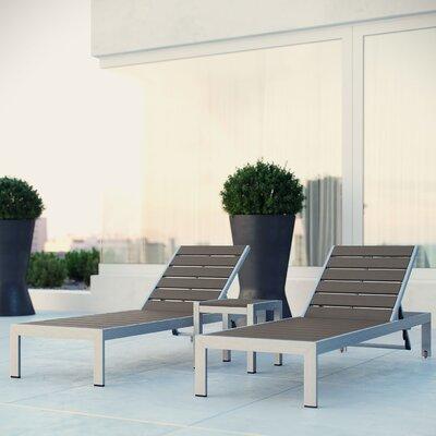 Coline 3 Piece Chaise Lounge Set